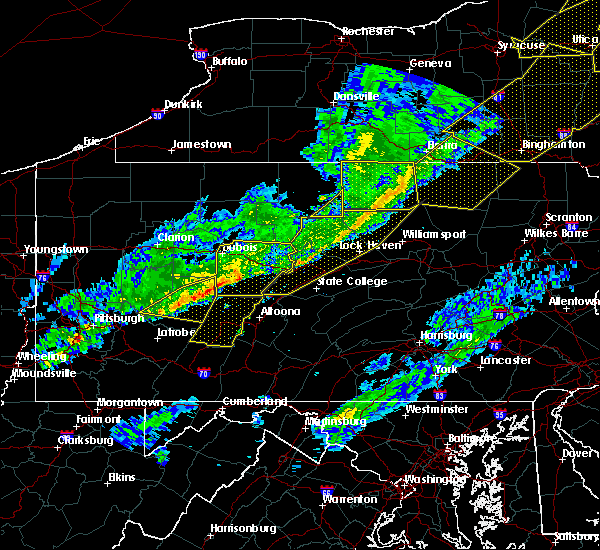 Radar Image for Severe Thunderstorms near Hastings, PA at 5/4/2018 6:36 PM EDT
