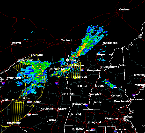 Radar Image for Severe Thunderstorms near Wilmington, NY at 5/4/2018 6:48 PM EDT