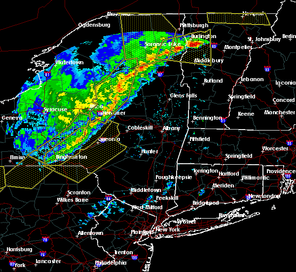Radar Image for Severe Thunderstorms near Gloversville, NY at 5/4/2018 7:15 PM EDT