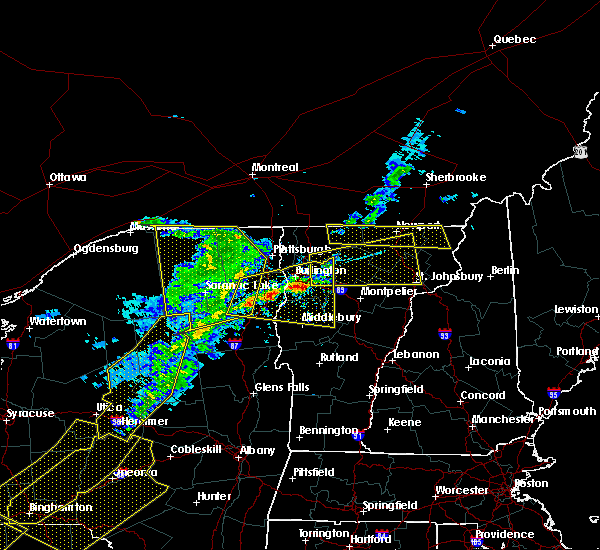 Radar Image for Severe Thunderstorms near Paul Smiths, NY at 5/4/2018 7:14 PM EDT