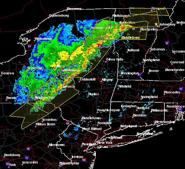 Radar Image for Severe Thunderstorms near Deposit, NY at 5/4/2018 7:36 PM EDT