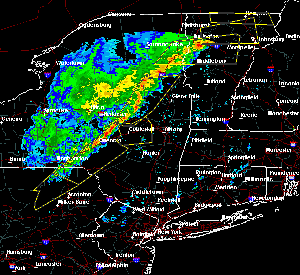 Radar Image for Severe Thunderstorms near Amsterdam, NY at 5/4/2018 7:39 PM EDT