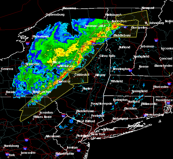 Radar Image for Severe Thunderstorms near Gloversville, NY at 5/4/2018 7:42 PM EDT