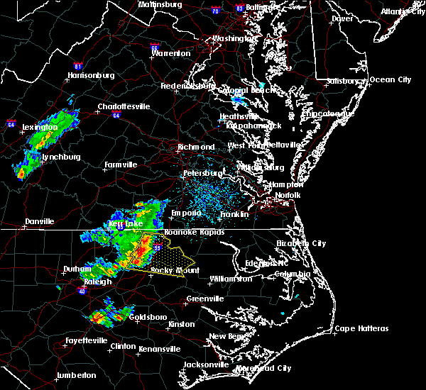 Radar Image for Severe Thunderstorms near Hollister, NC at 5/6/2018 4:27 PM EDT