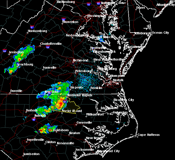 Radar Image for Severe Thunderstorms near Hollister, NC at 5/6/2018 4:38 PM EDT