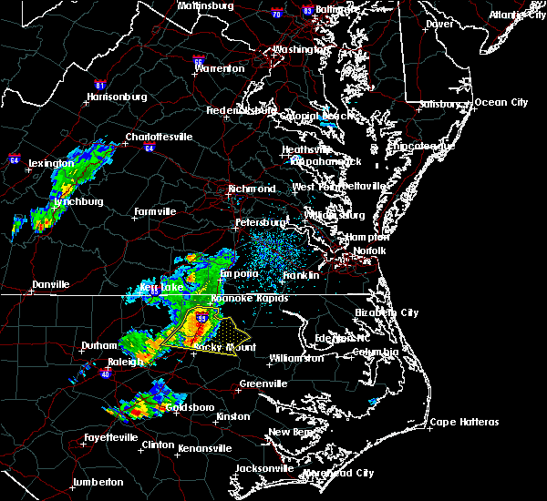 Radar Image for Severe Thunderstorms near Roanoke Rapids, NC at 5/6/2018 4:50 PM EDT