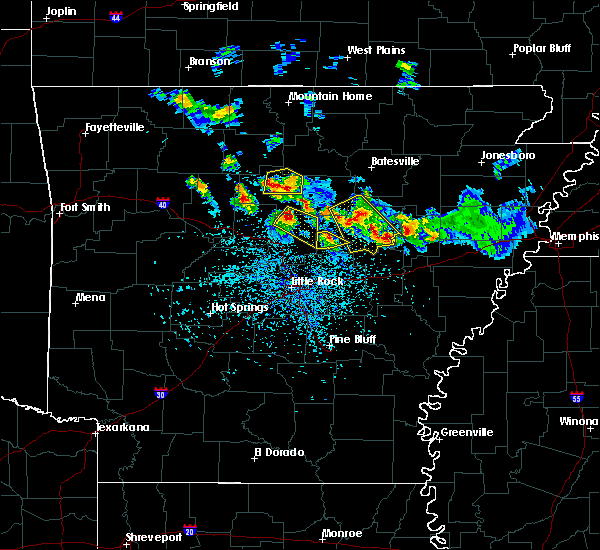 Radar Image for Severe Thunderstorms near Clinton, AR at 5/6/2018 4:54 PM CDT