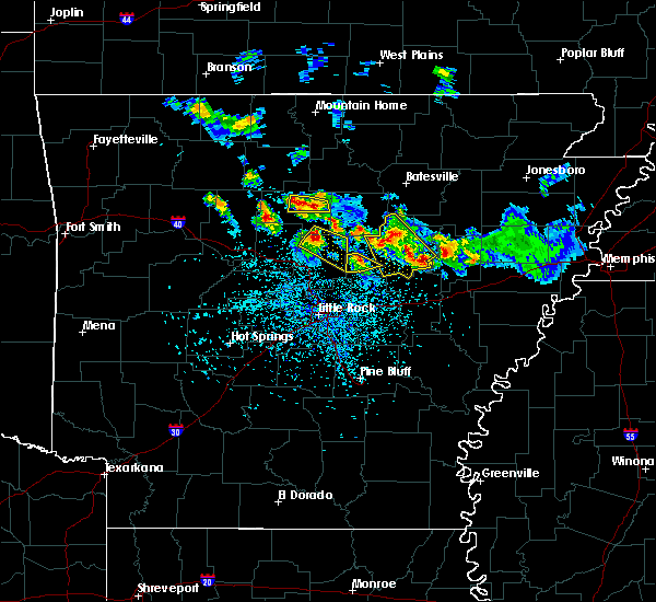 Radar Image for Severe Thunderstorms near Damascus, AR at 5/6/2018 4:54 PM CDT