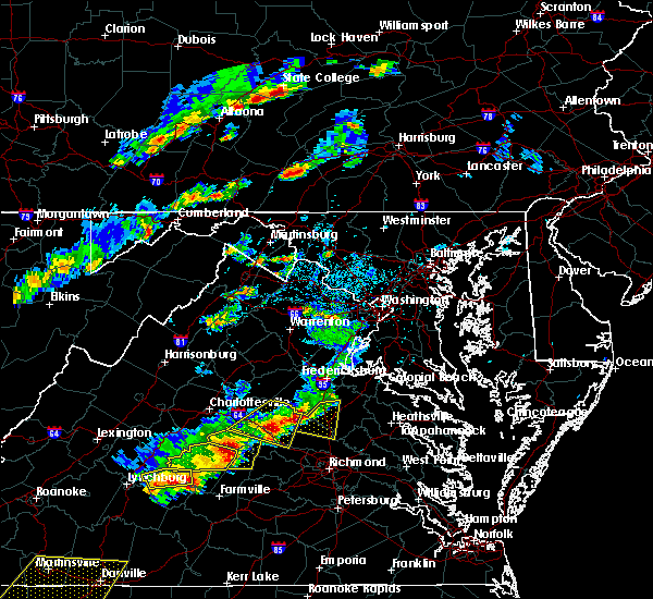 Radar Image for Severe Thunderstorms near Mineral, VA at 5/10/2018 3:38 PM EDT