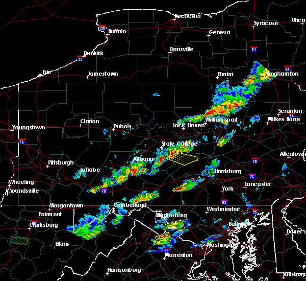 Radar Image for Severe Thunderstorms near Barrville, PA at 5/10/2018 4:09 PM EDT