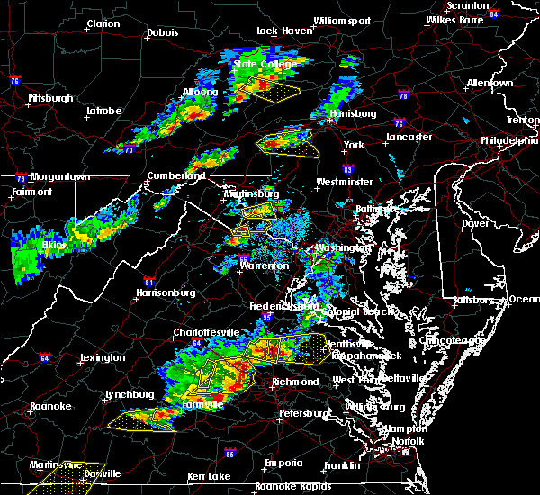 Radar Image for Severe Thunderstorms near Hampton, PA at 5/10/2018 4:19 PM EDT