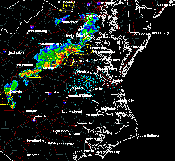 Radar Image for Severe Thunderstorms near Sandston, VA at 5/10/2018 4:19 PM EDT
