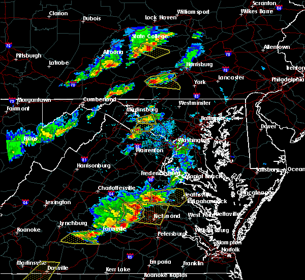 Radar Image for Severe Thunderstorms near Germantown, MD at 5/10/2018 4:21 PM EDT