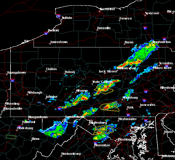Radar Image for Severe Thunderstorms near Strodes Mills, PA at 5/10/2018 4:31 PM EDT