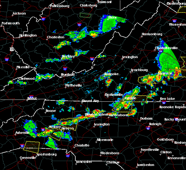 Radar Image for Severe Thunderstorms near Taylorsville, NC at 5/10/2018 4:34 PM EDT