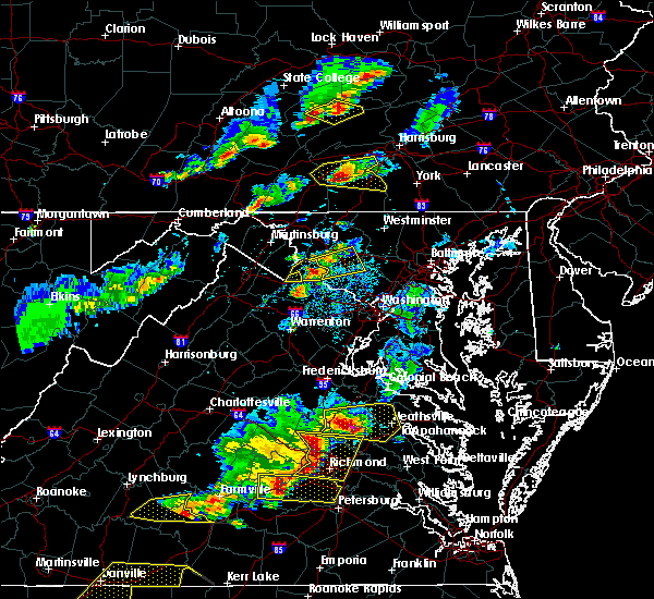 Radar Image for Severe Thunderstorms near Brunswick, MD at 5/10/2018 4:34 PM EDT