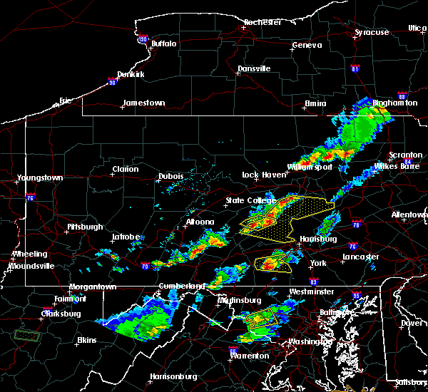 Radar Image for Severe Thunderstorms near Hummels Wharf, PA at 5/10/2018 4:40 PM EDT