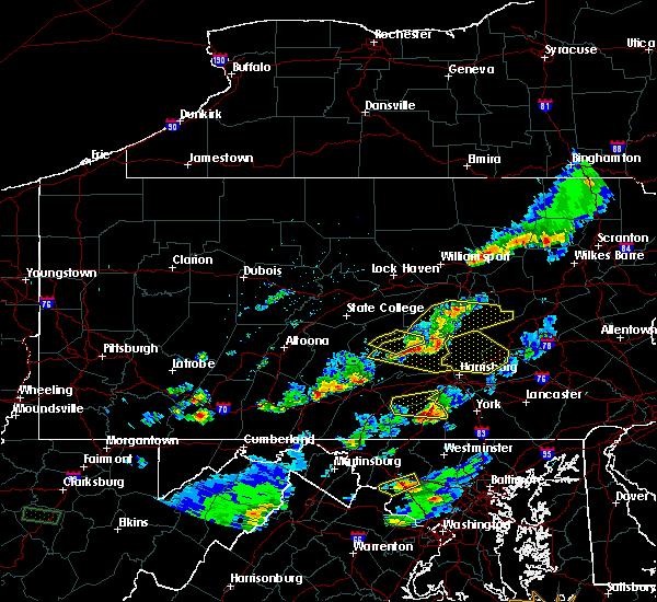 Radar Image for Severe Thunderstorms near Hershey, PA at 5/10/2018 4:59 PM EDT