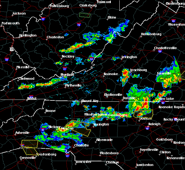 Radar Image for Severe Thunderstorms near Spencer, NC at 5/10/2018 5:18 PM EDT