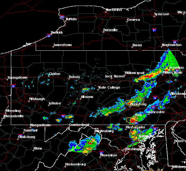Radar Image for Severe Thunderstorms near New Buffalo, PA at 5/10/2018 5:43 PM EDT
