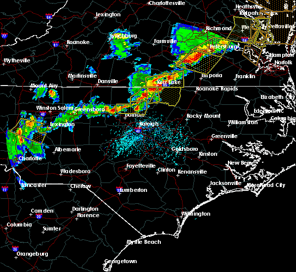Radar Image for Severe Thunderstorms near Hollister, NC at 5/10/2018 5:49 PM EDT