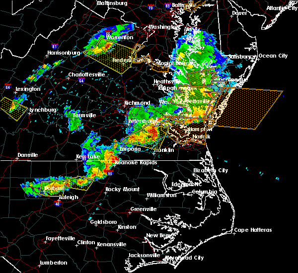 Radar Image for Severe Thunderstorms near Sussex, VA at 5/10/2018 6:35 PM EDT