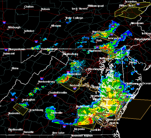 Radar Image for Severe Thunderstorms near Falmouth, VA at 5/10/2018 6:38 PM EDT