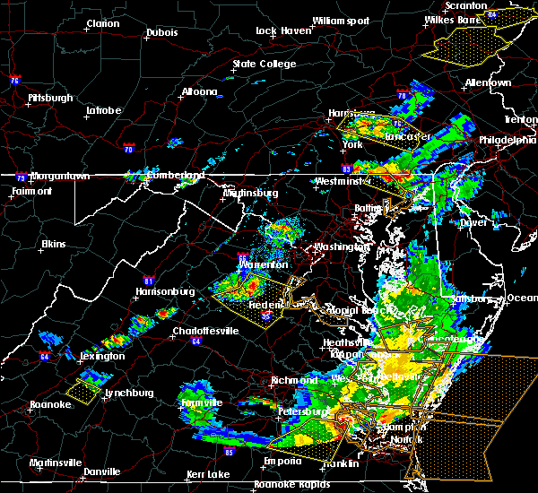 Radar Image for Severe Thunderstorms near Fredericksburg, VA at 5/10/2018 6:51 PM EDT