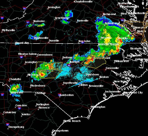 Radar Image for Severe Thunderstorms near Moncure, NC at 5/10/2018 7:47 PM EDT