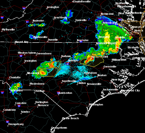 Radar Image for Severe Thunderstorms near Sanford, NC at 5/10/2018 7:50 PM EDT