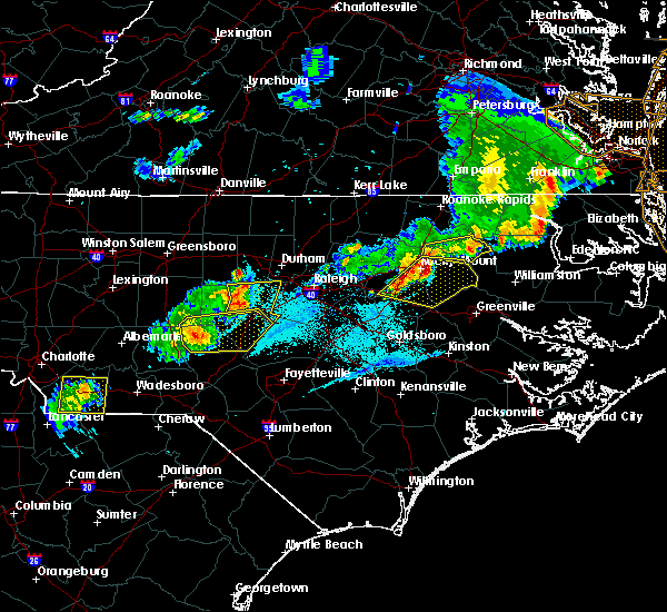 Radar Image for Severe Thunderstorms near Wilson, NC at 5/10/2018 7:54 PM EDT