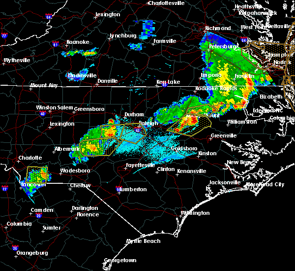 Radar Image for Severe Thunderstorms near Durham, NC at 5/10/2018 8:03 PM EDT