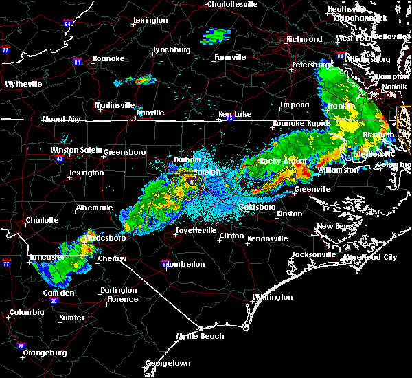 Radar Image for Severe Thunderstorms near Pinetops, NC at 5/10/2018 8:43 PM EDT