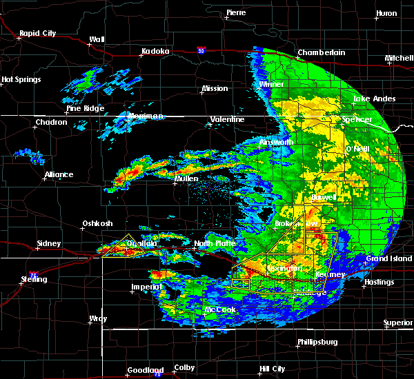 Radar Image for Severe Thunderstorms near Mason City, NE at 5/11/2018 12:03 AM CDT