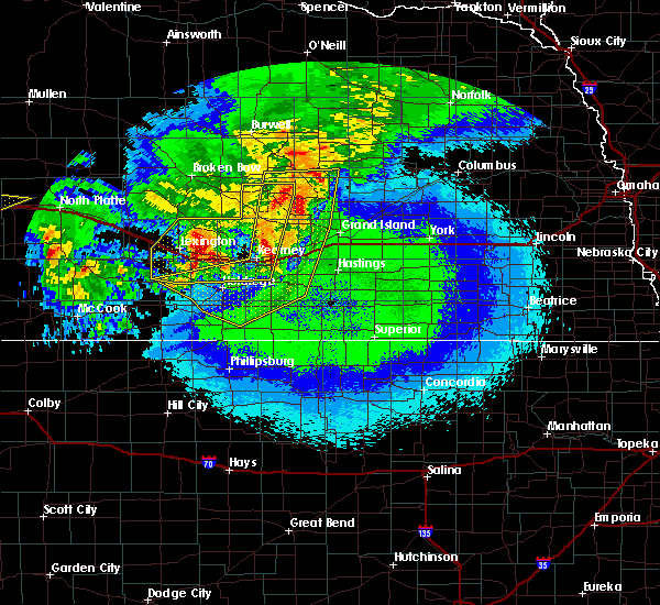 Radar Image for Severe Thunderstorms near Funk, NE at 5/11/2018 12:33 AM CDT