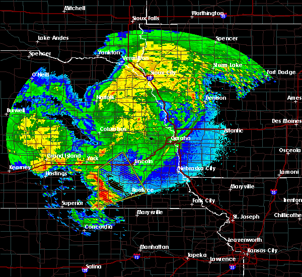 Radar Image for Severe Thunderstorms near Western, NE at 5/11/2018 3:37 AM CDT