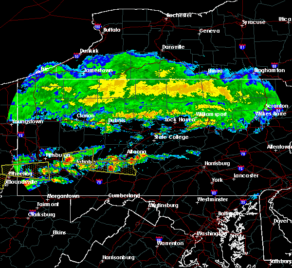 Radar Image for Severe Thunderstorms near Pleasantville, PA at 5/12/2018 4:02 PM EDT