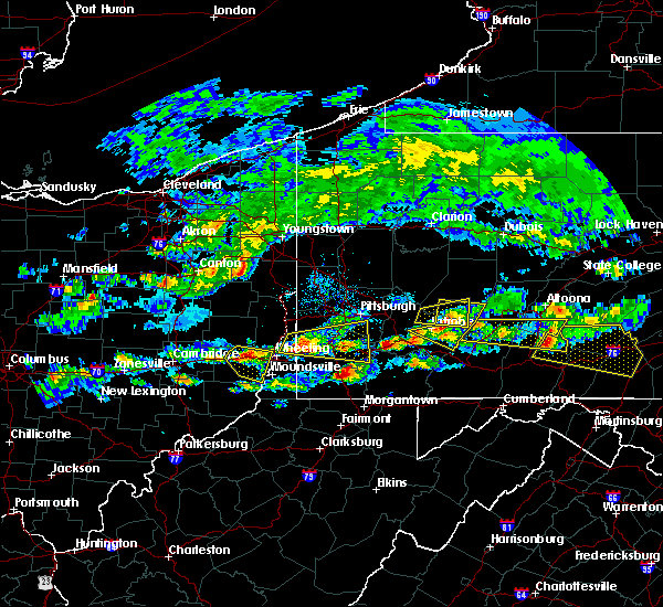 Radar Image for Severe Thunderstorms near Ellsworth, PA at 5/12/2018 4:17 PM EDT