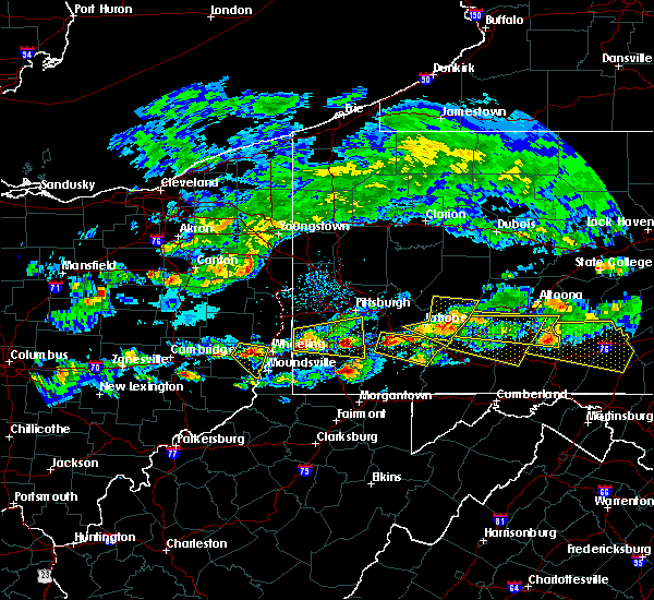 Radar Image for Severe Thunderstorms near Brownsville, PA at 5/12/2018 4:24 PM EDT