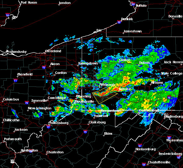 Radar Image for Severe Thunderstorms near Ellsworth, PA at 5/12/2018 5:57 PM EDT