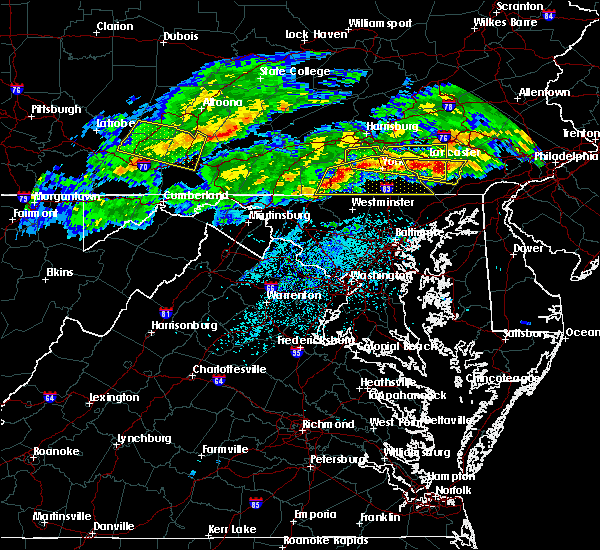 Radar Image for Severe Thunderstorms near Hanover, PA at 5/12/2018 6:57 PM EDT