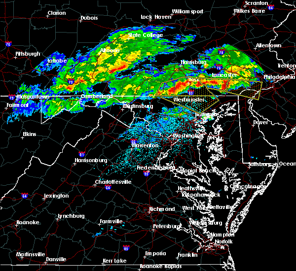 Radar Image for Severe Thunderstorms near Cockeysville, MD at 5/12/2018 7:09 PM EDT