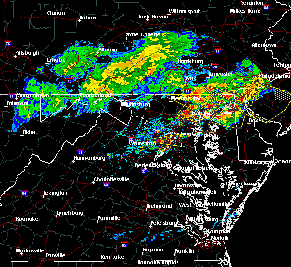 Radar Image for Severe Thunderstorms near Croom, MD at 5/12/2018 7:50 PM EDT