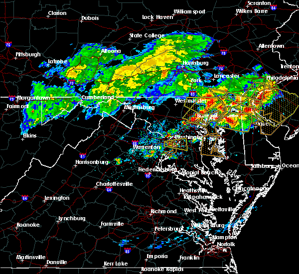 Radar Image for Severe Thunderstorms near Lanham, MD at 5/12/2018 7:58 PM EDT