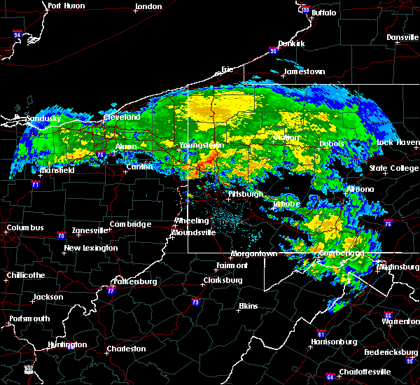 Radar Image for Severe Thunderstorms near Calcutta, OH at 5/13/2018 8:07 AM EDT