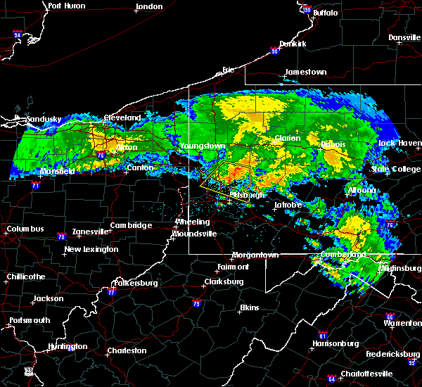 Radar Image for Severe Thunderstorms near Bradford Woods, PA at 5/13/2018 8:32 AM EDT
