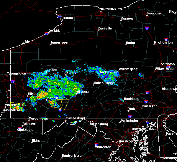 Radar Image for Severe Thunderstorms near Dunlo, PA at 5/13/2018 4:40 PM EDT