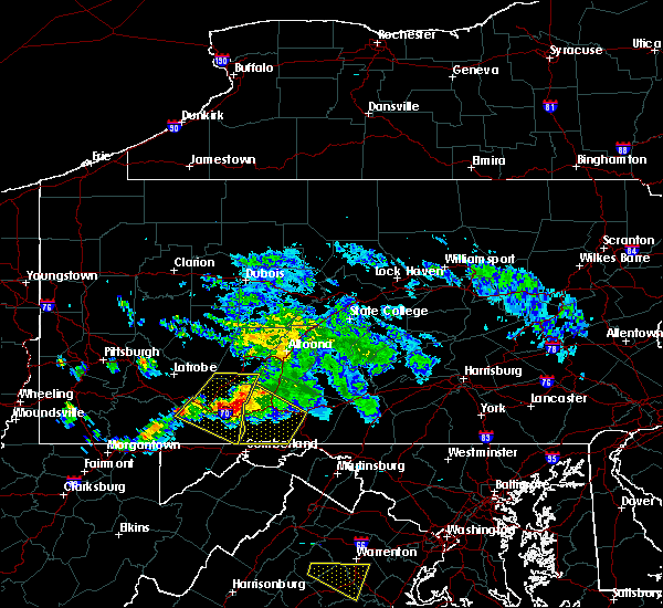 Radar Image for Severe Thunderstorms near Pleasantville, PA at 5/13/2018 6:06 PM EDT