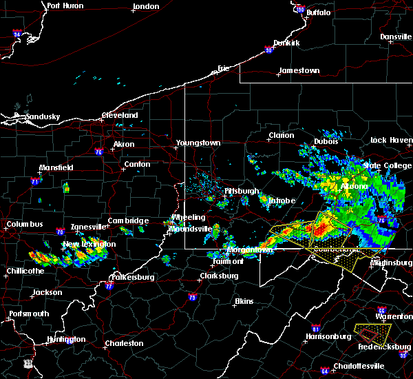 Radar Image for Severe Thunderstorms near Wellersburg, PA at 5/13/2018 6:15 PM EDT