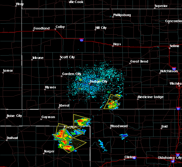 Radar Image for Severe Thunderstorms near Coldwater, KS at 5/13/2018 5:21 PM CDT